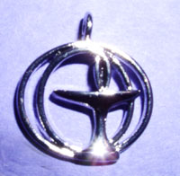 Double Circle Pewter Chalice Pendant - 3/4""