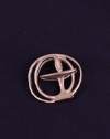Chalice Lapel Pin - Double Circle Pewter