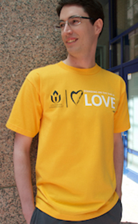 Standing on the Side of Love and UUA Chalice T Shirt Small