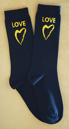 Standing on the Side of Love Socks Black