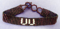 UU Beaded Bracelet - plum