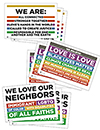 We Believe/We Love/We Are Rally Signs (Pack of 9)
