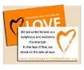 Standing on the Side of Love Wallet Card (pack of 25)