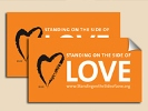 Standing on the Side of Love Lapel Stickers (pack of 100)