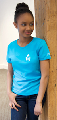Chalice Scoop Neck Fitted Turquoise T Shirt