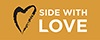Side with Love Bumper Stickers (Pack of 10)
