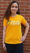 Side with Love Scoop Neck Fitted T Shirt