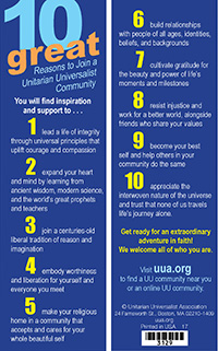 Ten Great Reasons to Join a UU Community