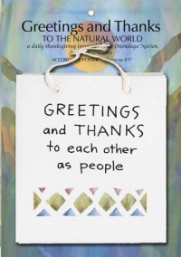 Greetings and Thanks to the Natural World Poster