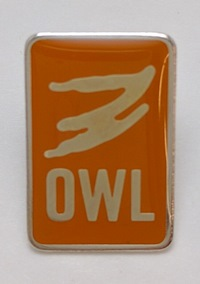 OWL Lapel Pin - Orange, Adult