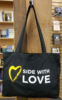 Side With Love Canvas Tote Bag