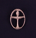 Chalice Lapel Pin - Pewter Oval