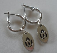Chalice Loop Earrings with Pewter Charm