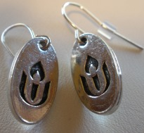 Chalice Pierced Earrings with Pewter Charm