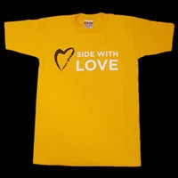 Side with Love Adult T Shirt 3X-Large
