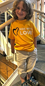 Side with Love Child's T Shirt Large